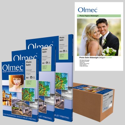Olmec Photo Satin Midweight 240gsm (OLM 64) Inkjet Photo Paper