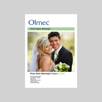 Olmec Photo Satin Midweight 240gsm Resin Coated Inkjet Photo Paper