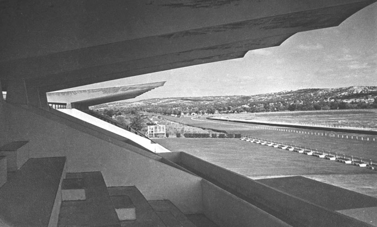 View-of-the-roof-over-the-grandstand-and-the-landscape-(Monte-del-Pardo)