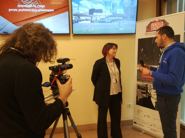 Isella Vicini interviewed at the InnovaConcrete Rome workshop