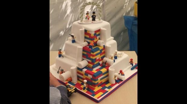 pastel de bodas de lego