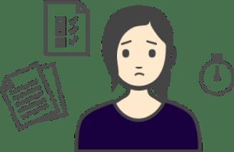 困る女性イラスト