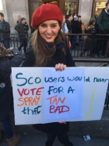 'Scousers would never vote for a spray tan that bad' banner