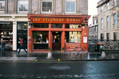 The Elephant House Cafe, Edinburgh, where JK Rowling spent time writing the first book
