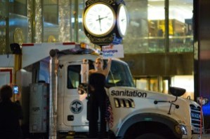 Lady Gaga outside of Trump Tower