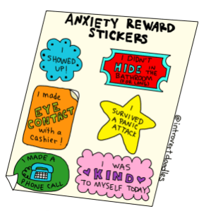 Anxiety Reward Stickers