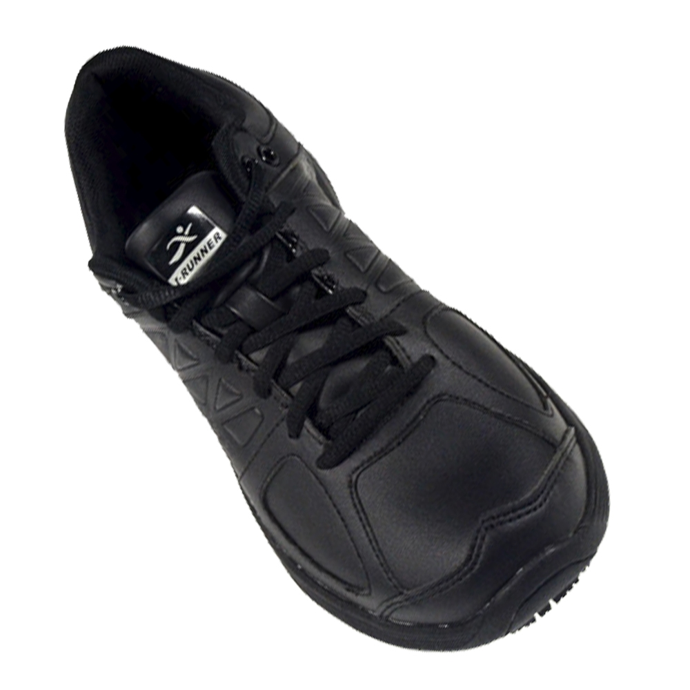 Black Leather Non Slip Shoes