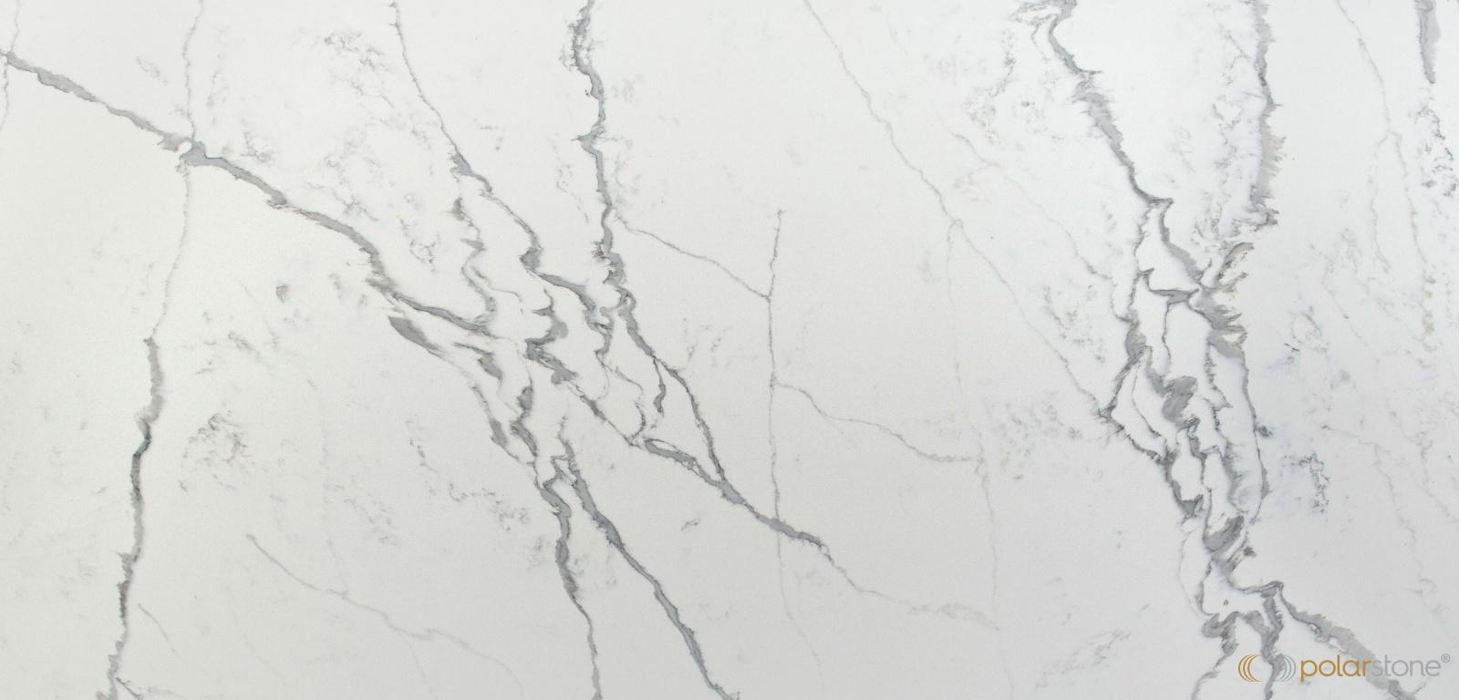 Polarstone Statuario Bianco quartz countertops 5132