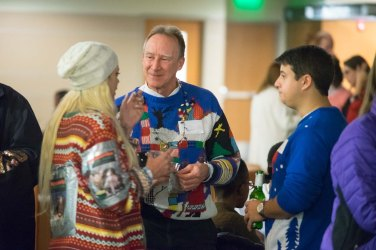 Innovation Quarter Network Night at Venture Café live jazz by Joe Robinson and band, and annual Ugly Holiday Sweater Contest.
