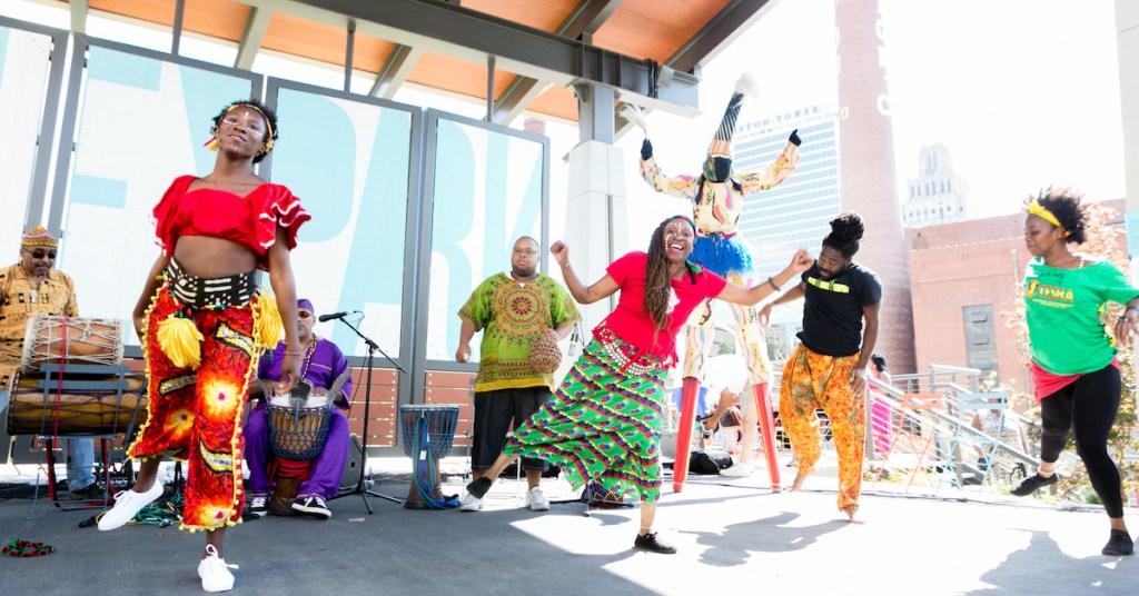 Juneteenth celebration in the Innovation Quarter's Bailey Park.