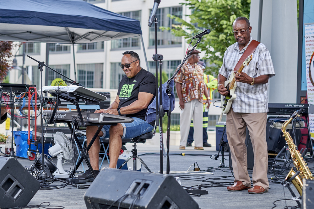 A band plays at Juneteenth Festival.