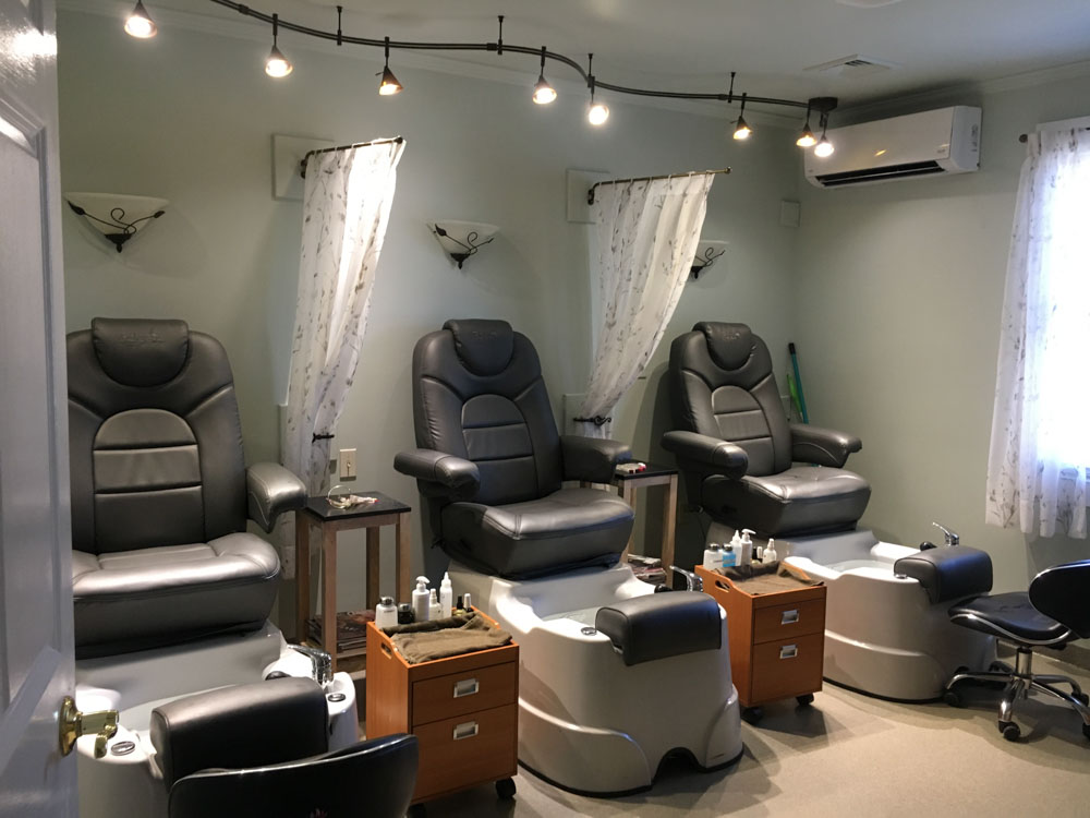 Pedicure room at Innovations Salon & Spa