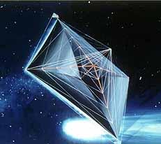 Artist's conception of a solar sail