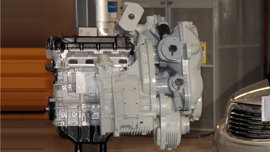 First mock-up of the new hydraulic hybrid engine