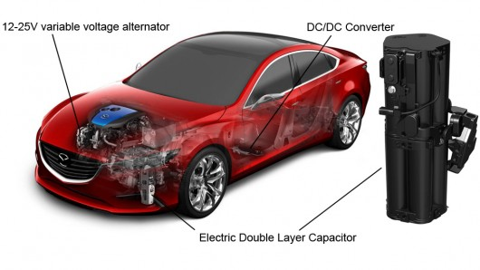 Mazda announces world first capacitor-based regenerative braking system