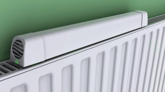 Radiator Booster redirects hot air from the wall to the room