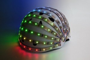 Interactive LED Helmet Lets Bikers Signal With Their Heads