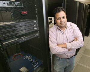 Vivek Pai (above), an associate professor of computer science at Princeton, worked with graduate student Anirudh Badam to develop a software technique that could radically cut power use. (Photo by Frank Wojciechowski)