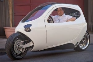 Can A Mutant Electric Half-Car, Half-Motorcycle Disrupt The Vehicle Market?