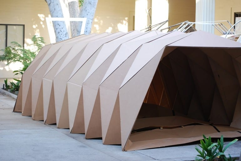 Cardborigami fuses cardboard and origami to shelter the homeless