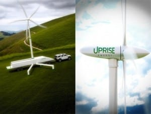 Portable 50kW Wind Turbine Folds Itself into Shipping Container