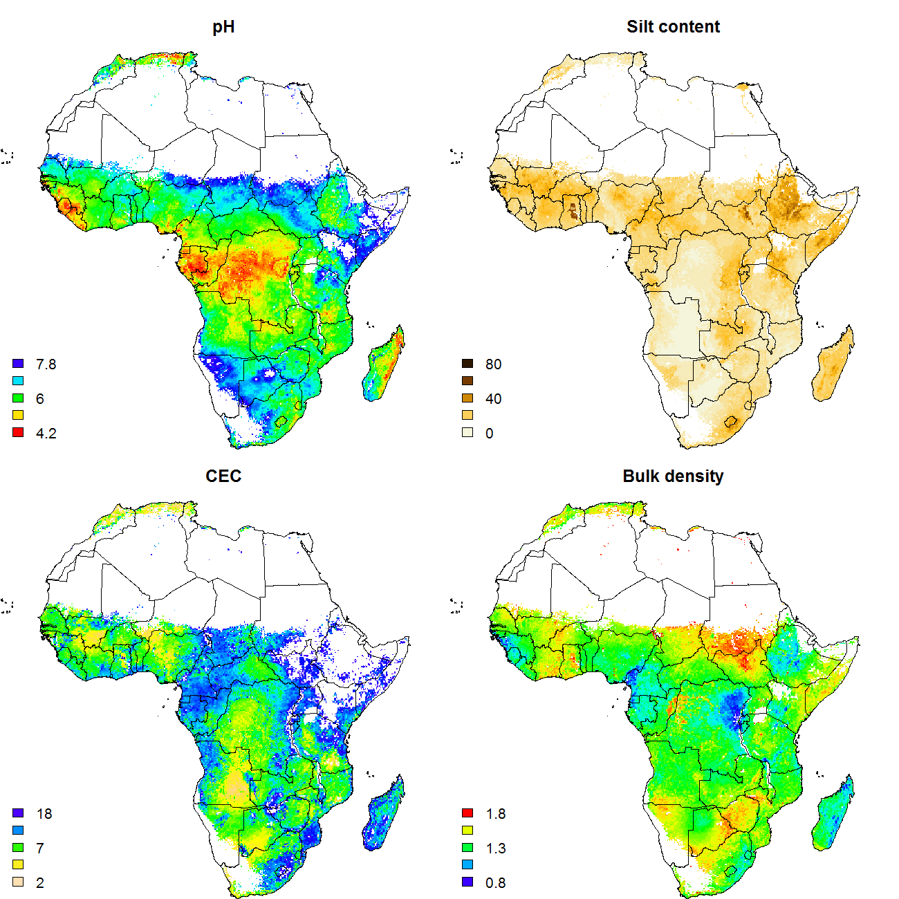 New generation soil property maps for Africa