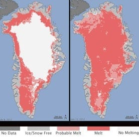 Greenland Sets New Summer Melt Record