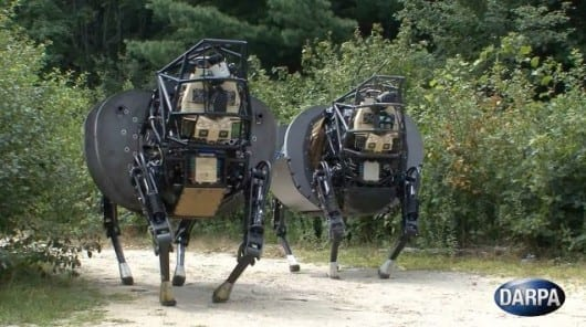 DARPA releases video of new-and-improved LS3 quadruped robots