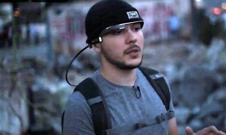 Vice's Tim Pool using Google Glass