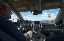 Cadillac SRX converted into a self-driving car
