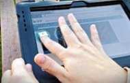 Images and video move by touch from one smartphone to another tablet