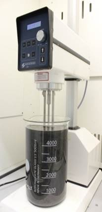 Five litres of suspended graphene (in an industrial blender). Credit: CRANN.