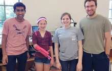 WUSTL students 'print' pink prosthetic arm for teen girl