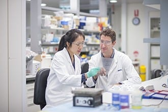 Ms Grace Liu (left) and Dr Ross Dickins have found that reactivating a gene called Pax5 could successfully treat leukaemia by helping cancerous cells to resume normal development.