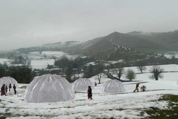 Woven Domes Create Safe, Modern Shelters For Disaster Zones