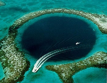 Great Blue Hole, Coast of Belize - a phenomenon of Karst topography. (Photo credit: Wikipedia)