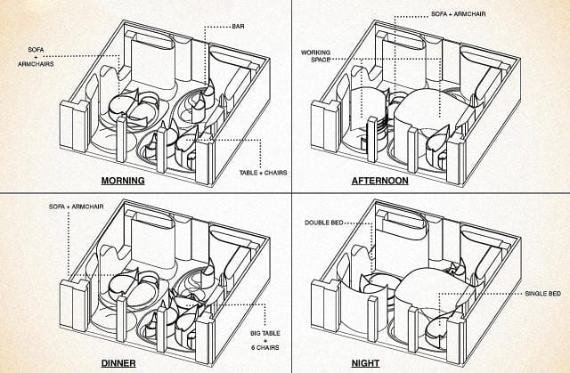 This Micro Apartment Transforms When You Push A Button To Give You More Space