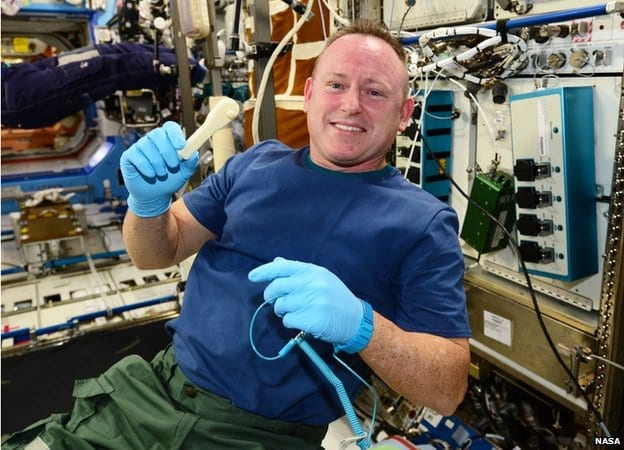 Astronaut Barry Wilmore asked for a ratcheting socket wrench