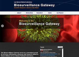 The Biosurveillance Gateway site offers a variety of Los Alamos-developed biosurveillance tools that can be used for decision support in disease surveillance.