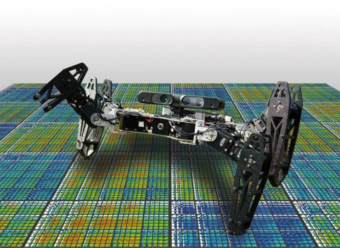 This is one of the robots introduced in the paper'Robots that can adapt like animals.' CREDIT Antoine Cully