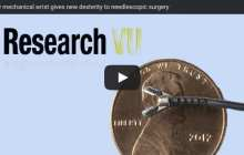 Tiny mechanical wrist gives new dexterity to needlescopic surgery