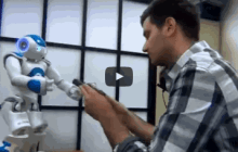 A humanoid robot to liaise between space station crews