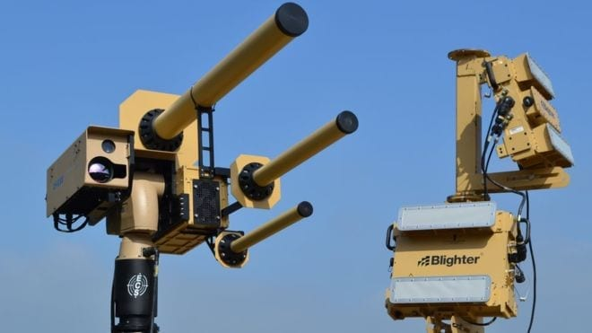The Auds system uses a strong radio signal to freeze a drone mid-flight - via BBC,com