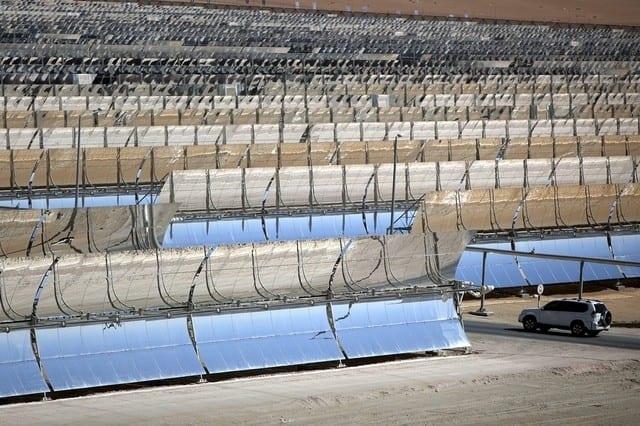 The Shams 1 solar power plant near the Madinat Zayed in Western Region. Silvia Razgova / the National