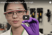 Self-adaptive material heals itself and stays tough