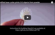 Bioengineers make open-source laser, OpenSLS, sintering 3D printer for biomaterials fabrication