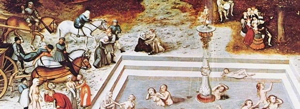 The Fountain of Youth, a 1546 painting by Lucas Cranach the Elder. via Concordia University