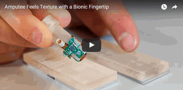 New bionic fingertip can 'feel' texture