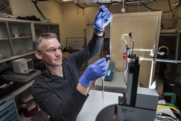 Sandia National Laboratories researcher Todd Monson and his colleagues have demonstrated the fabrication of iron nitride transformers in power-conversion test beds.
