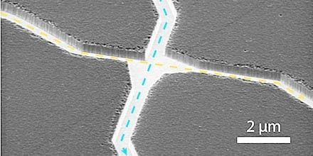 Scanning electron microscopy (SEM) capture of a pass junction